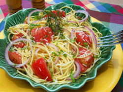 breezy summer pasta, mr food, basil recipes, recipes with basil