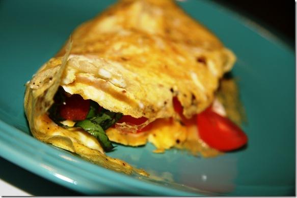 tomato basil and feta omelette, basil recipes, recipes with basil