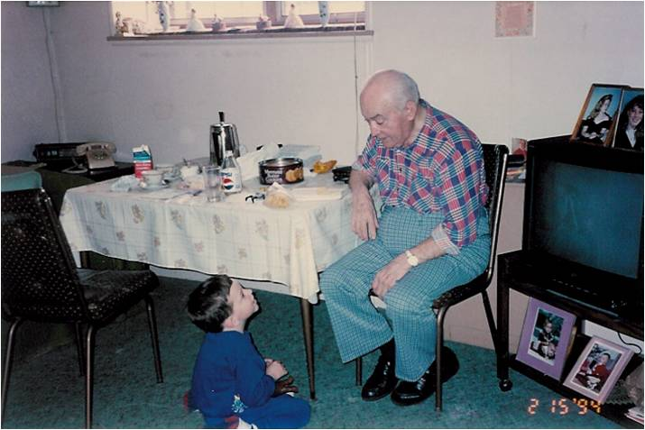 My grandfather with my son, Dan