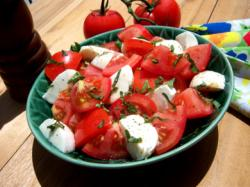 tomato mozarella salad, mr food, basil recipes, recipes with basil