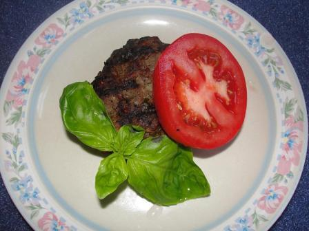 tomato basil hamburger, basil recipes, recipes with basil